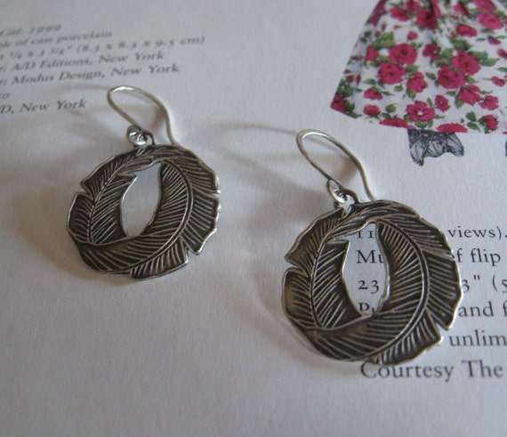 Palm Frond Dangle Earrings