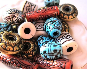 10 - Old World Antique Mix - a008 - Beads