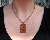 Speculaas Necklace - Dutch cookie - Retro Handmade Charm Necklace