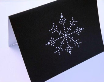 Let it Snow - One Premium Hand-hammered Greeting Art Card - Textured Card Stock DDOTS