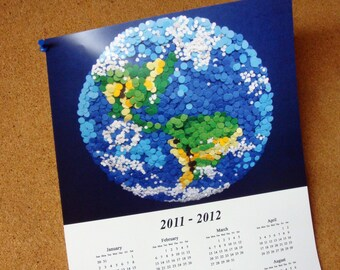 """2018 - 2019    16-Month Wall Calendar 11""""x17"""" Poster - DDOTS Planet Earth"""