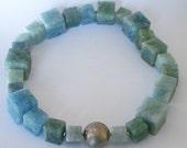 Aquamarine 18k White Gold - Diamond Necklace