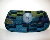 Mod Blue and Green Clutch Bag, Womans fashion