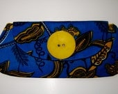 Blue and Yellow Tribal Clutch by 2chicdesigns