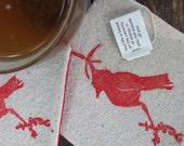 Red cardinal coasters SET OF 4