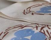 Set of 4-Robins Nest napkins