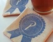 PBR fabric coasters-SET OF 4