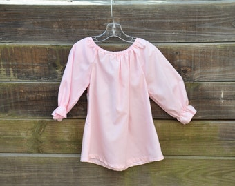 Peasant Blouse in Pink or White