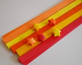 80 Origami Lucky Star Paper Strips Fall Foliage