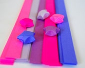 80 Origami Lucky Star Paper Strips Pink and Purple