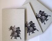 5 x Victorian Fight Club steampunk Cards w envelopes