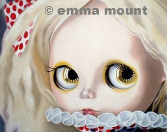 Blythe Doll Print ltd ed 10/50 - clown - circus - pastel goth