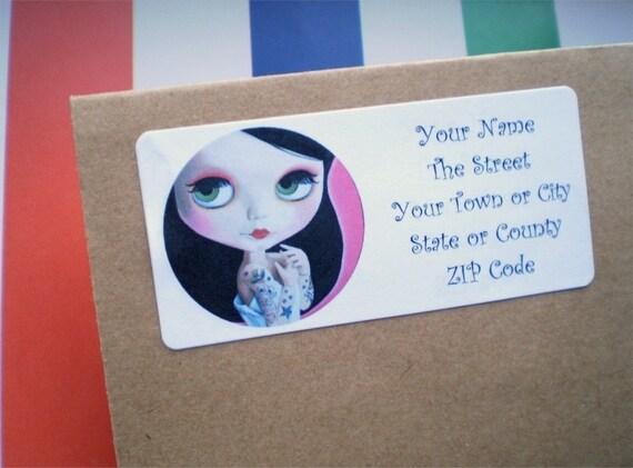 Blythe Doll Return Address Labels