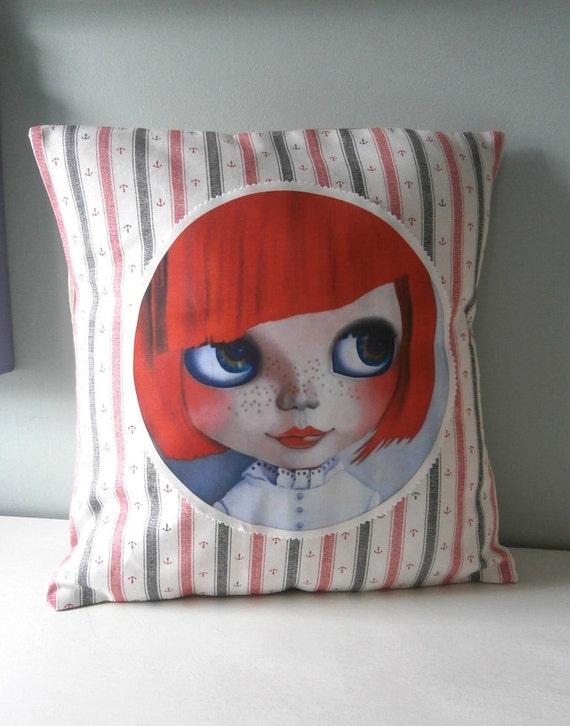 Nautical Anchor Blythe Doll Boutique Cushion / Pillow cover