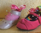 Pin Cushion, Littlle  Girl 's baby Shoes Mary Janes
