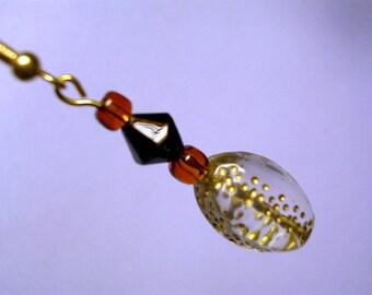 Clear Glass Egg Earrings