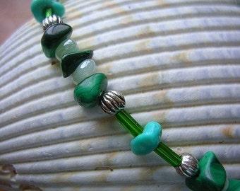 Malachite and Turquoise Bracelet