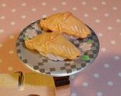 Ultra Kawaii Destash 2 Pieces of Sushi on Fancy Plate Adjustable Ring
