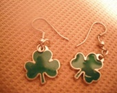 ST. PATTYS DAY Lucky Shamrock Dangle Earrings
