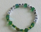 sale KISS ME IM IRISH BEADED ALPHABET BRACELET