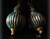 DistantPast patina globe earrings upcycled vintage