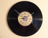 Laser etched CD/LP Clock