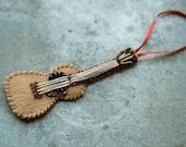 Felt Acoustic Guitar ornament