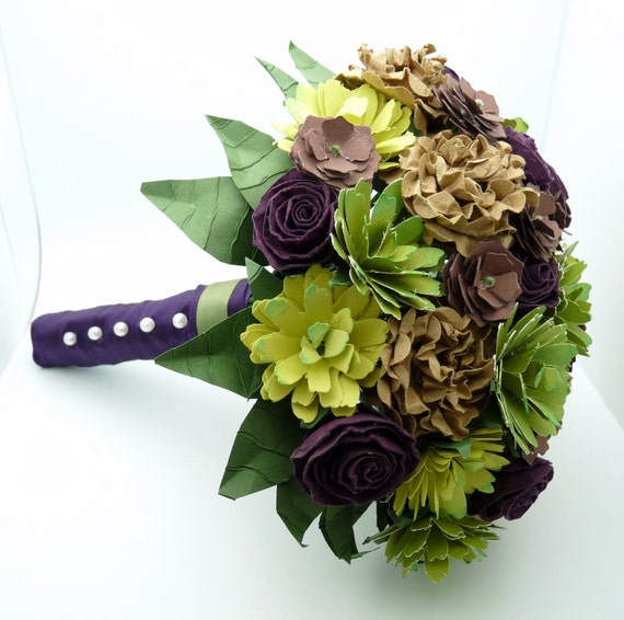 Making Your Own Wedding Flowers: Create Your Own Custom Order Paper Flowers Bouquets