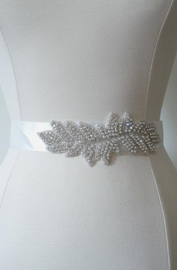 rhinestone dress sash bridal belt by onehappygirl on etsy
