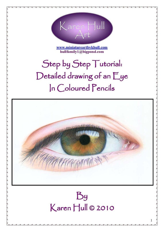 Step by Step Art Tutorial - How to draw an Eye by Karen Hull