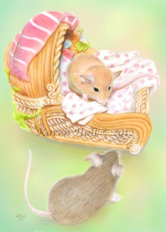 Room for Two with Background ACEO jpeg file by award winning artist Karen Hull