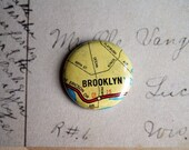 Brooklyn NY Map 1 Inch Button