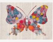 Wallflower Butterfly PRINT