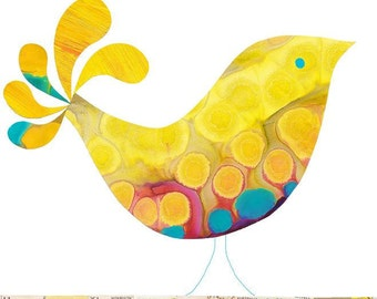 Children Decor B is for Bird (yellow) Print