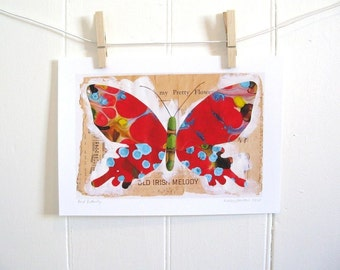 Butterfly Print (Red Butterfly )