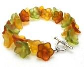 ON SALE - Fall Flowers - Bracelet
