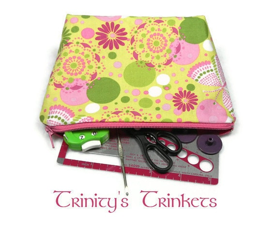 Accessories and Notions Knitting Case - Pink Butterflies
