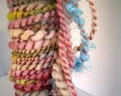 Handspun Art Yarn Poquito Skein  ACCEPT 12 yds