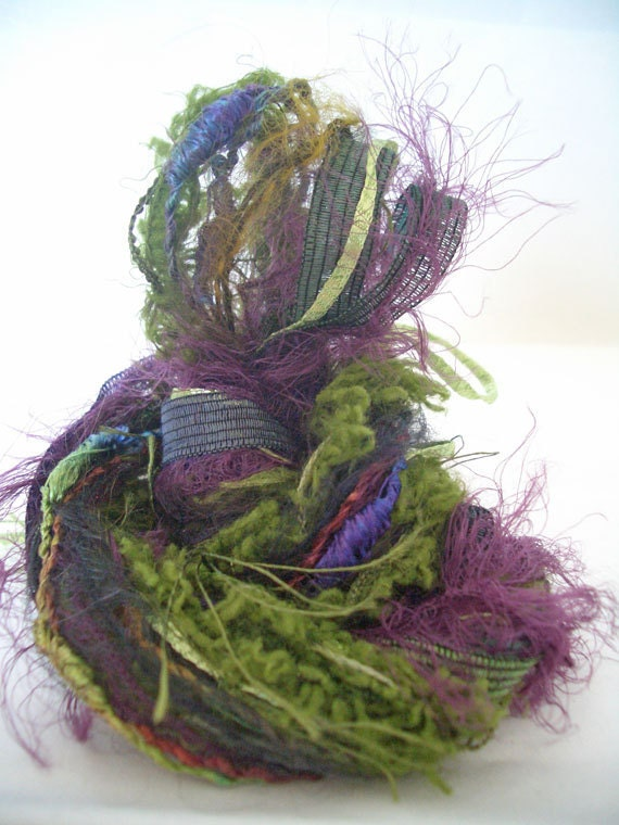 Novelty Yarn Bundle No 48 for spinners, felters,crafters and the ...