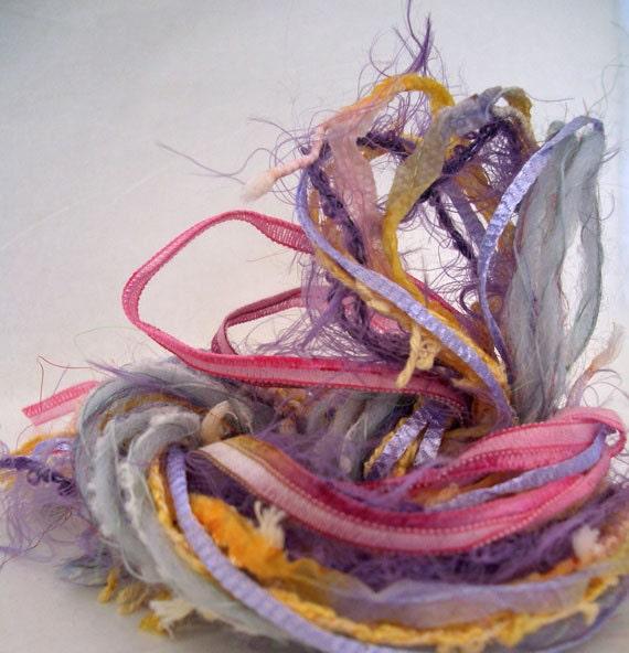 Novelty Yarn Bundle  No 63  Total of 12 yds