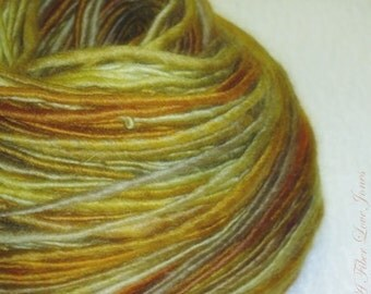 Leona's Coat - 145 yards - Handspun - Single Ply - Thick and Thin - Knit - Crochet - Weave - Mixed Media - Fiber Arts, Textile Arts, etc.