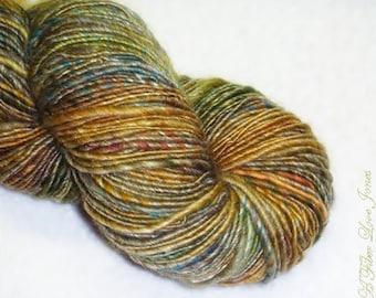 Urban Plaids - Handspun Art Yarn - 180 yards - Single Ply - Knitting - Crochet - Weaving - Fiber Arts - Textile Arts - Mixed Media, etc.