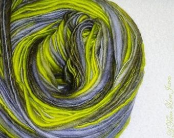 Hoary Ogre - Art Yarn -195 yds - Thick and Thin - Handspun - Knitting - Crochet - Weaving - Mixed Media - Fiber Arts - Textile Arts - etc