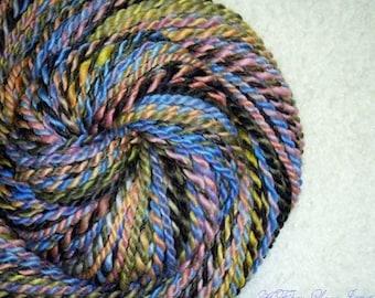 Midnight Lullabies - Handspun - Art Yarn - 72 yards - Bulky - 2ply - Knitting - Crochet - Weaving - Fiber Arts - Textile Arts