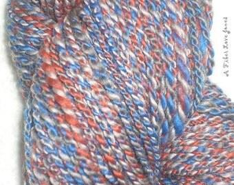 Little League - 2 ply - 97 yards Handspun - Art yarn - Felting- Weaving - Knit - Crochet - Mixed Media
