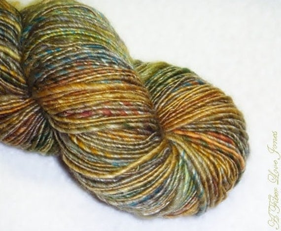 Urban Plaids - Handspun Art Yarn - 180 yards - Single Ply - Knitting - Crochet - Weaving - Fiber Arts - Textile Arts - Mixed Media, etc.
