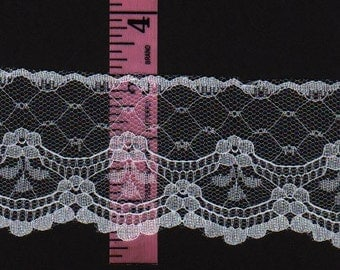White Lace trim 2.5 inches wide  35yds    D609
