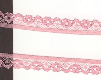 1/2 inch wide Baby Doll Pink lace trim 35 yds (6666)