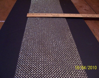 Gold mesh fabric 6 inches wide 5 yds in length
