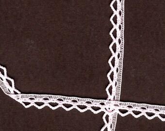 1/4 inch wide Pink lace trim  35 yds  (D594)